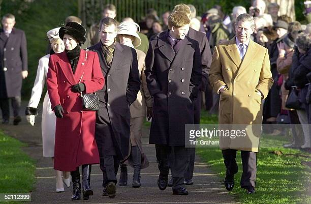 The Royal Family Attending Church On Christmas Day At Sandringham In Norfolk. Princess Anne, [ The Princess Royal ] With Her Son Peter Phillips,...