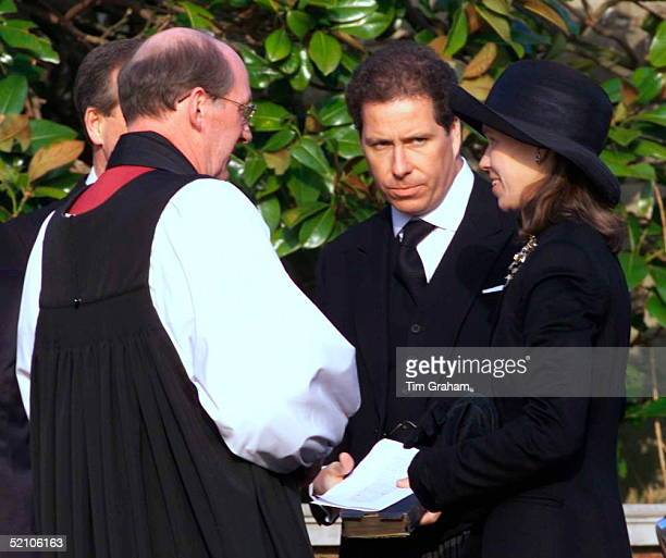The Royal Family Attending The Funeral Of Princess Margaret At St George's Chapel In Windsor Castle Lady Sarah Chatto With Her Brother Lord Linley