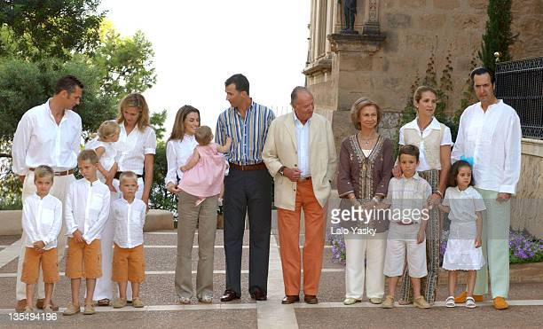 The Royal Family Attends a Photo Session at Marivent Palace in Ocassion of Their Summer Hollidays in Palma de Mallorca.