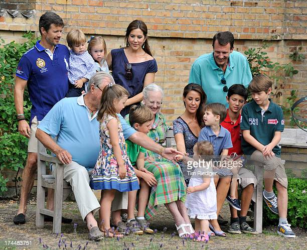 The royal family attends the annual Summer photocall for the Royal Danish family at Grasten Castle on July 26 2013 in Grasten Denmark