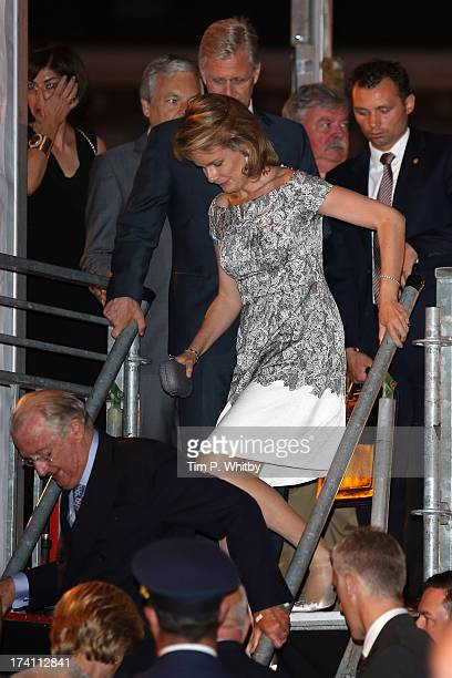 The royal family departs after the 'Bal National' Held Ahead Of Belgium Abdication Coronation on July 20 2013 in Brussels Belgium