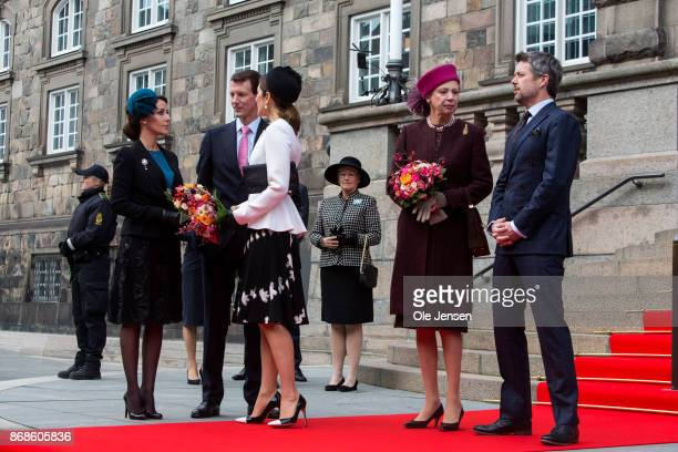 The royal family is waiting for the Queen to arrive to the Parliament to celebrate the Reformation's 500th anniversary on October 31 2017 in...