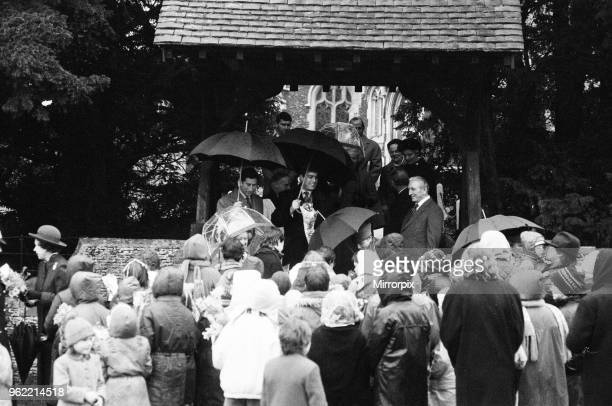 The Royal Family leave St Mary Magdalene Church, Sandringham, Norfolk, after their annual Holiday season church service. They are greeted by the many...