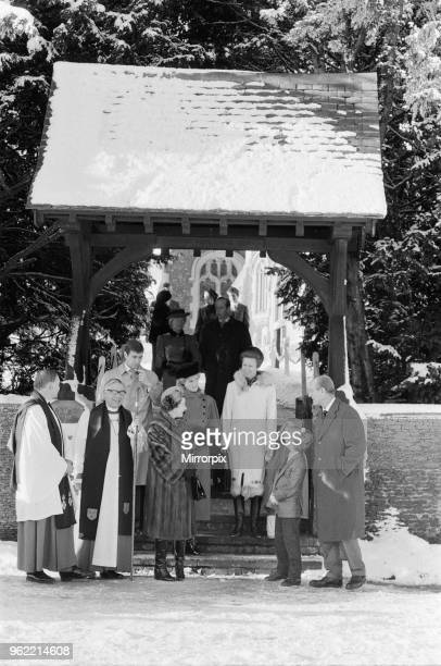 The Royal Family leave St Mary Magdalene Church Sandringham Norfolk after their annual Holiday season church service Picture shows Queen Elizabeth II...