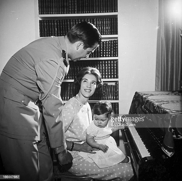 Constantin Ii AnneMarie Of Denmark And The Princess Alexia Grèce Athènes 1966Baptême de la petite Alexia fille de CONSTANTIN II roi de Grèce et de...