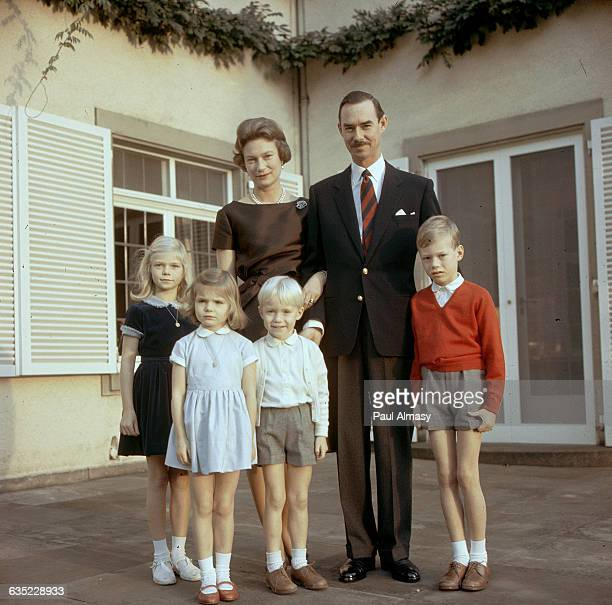 Grand Duke Jean with his wife Grand Duchess Josephine Charlotte and their children Marie Astrid Margaretha Jean and Henri 1966 The Grand Duke came to...