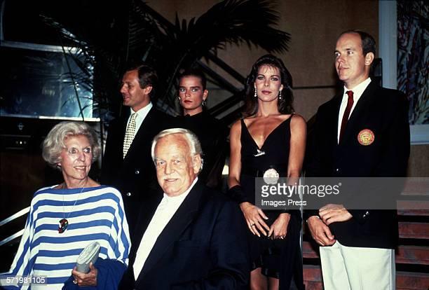 The Royal Family of Monaco circa 1990 in New York City.