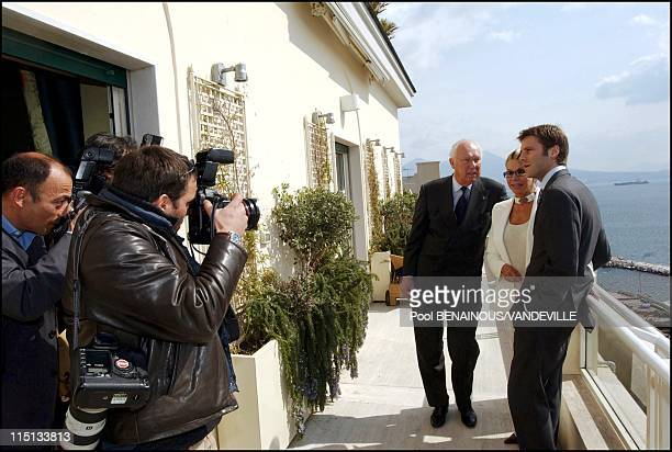 The Royal Family of Savoy in Naples, Italy on March 17, 2003.