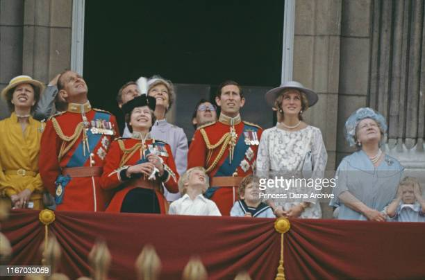 The royal family on the balcony of Buckingham Palace in London for the Trooping the Colour ceremony June 1983