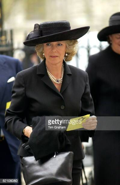 The Royal Family Returned To Westminster Abbey Today For A Memorial Service To Celebrate The Life Of Princess Margaret camilla Parkerbowles Wearing A...