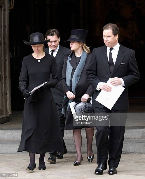 The Royal Family Returned To Westminster Abbey Today For A Memorial Service To Celebrate The Life Of Princess Margaret Her Son And Daughter Viscount...