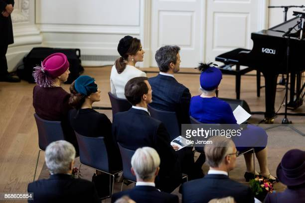 The royal family seen inside the Parliament building during the celebration ceremony of the 500 years Anniversary of the Reformation on October 31...
