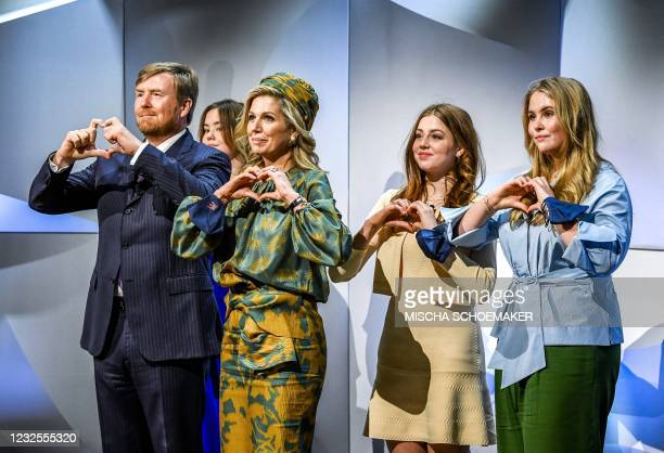 The royal family takes part in festivities as part of King's Day at the High Tech Campus in Eindhoven, on April 27, 2021. - Netherlands OUT /...