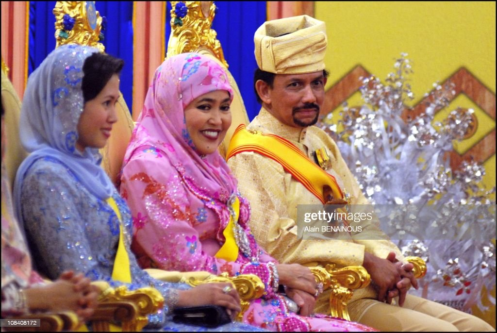 the royal family the sultan hassanal bolkiah and two