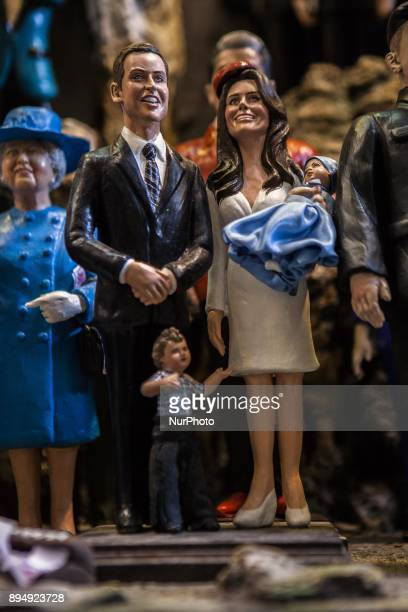 The Royal Family William of England his wife Kate Middleton are seen in 'Via San Gregorio Armeno' in Naples Italy on December 18 2017 Various...