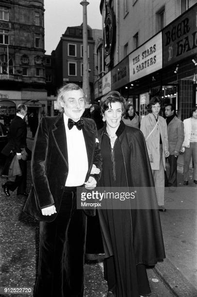 The Royal Film Performance of 'The Three musketeers' at the Odeon Leicester Square London Spike Milligan with his wife Paddy Milligan 25th March 1974