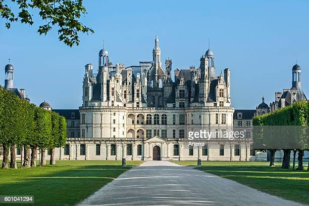 The royal French Renaissance Chateau de Chambord one of the Chateaux of the Loire Valley LoiretCher France