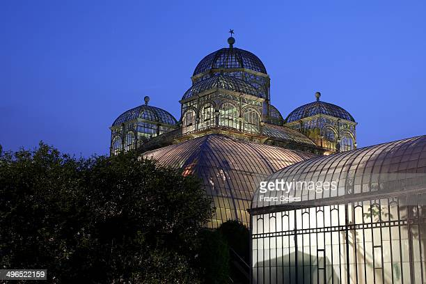 The Royal Greenhouses of Laeken are a vast complex of monumental heated greenhouses in the park of the Royal Palace of Laeken in the north of...