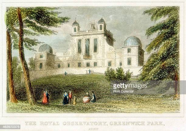 The Royal Greenwich Observatory Flamsteed House Greenwich Park London c1835 The observatory was built by Christopher Wren on the orders of Charles II...