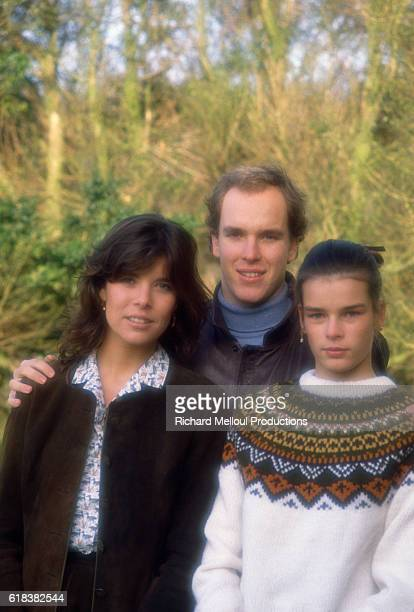 The royal Grimaldi family of Monaco, siblings Princess Caroline, Prince Albert, and Princess Stephanie, at their French villa. Two months earlier,...