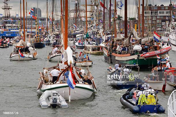 CONTENT] The Royal 'Groene Draeck' sailing ship with the Dutch King as captain sailing during the Sail 2010 event