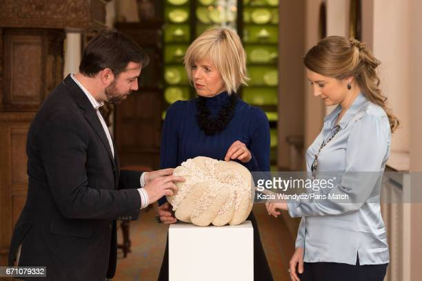 The Royal Highnesses Grand Duke Guillaume of Luxembourg and his wife the Grand Duchess Stephanie of Luxembourg with Ellen Van Der Woude are...