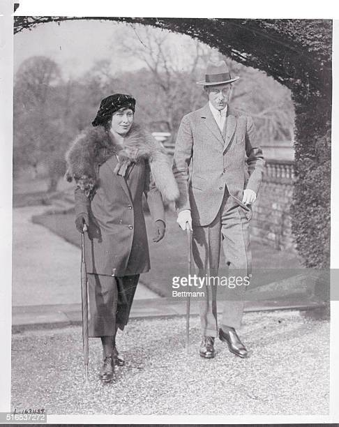 The Royal Honeymooners The Viscount and Viscountess Lascelles the latter better known as the Princess Mary only daughter of the King and Queen of...