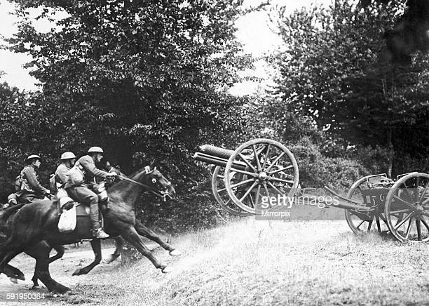 The Royal Horse Artillery seen here in full gallop near Amiens during the campaign to halt the German advance on Paris Circa July 1918