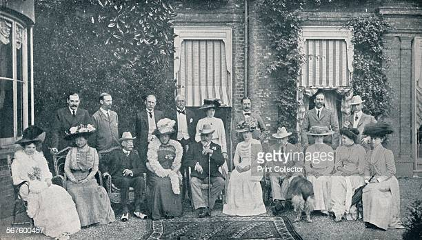 The Royal house party at The Grove, Watford, Lord Clarendon's residence, in July, 1909 . From Edward VII: His Life and Times, Volume II Edited by Sir...