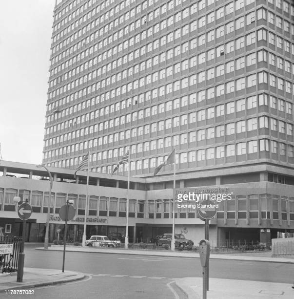 The Royal Lancaster London, hotel in Bayswater, London, UK, 4th May 1970. The tower was designed by architect Richard Seifert.