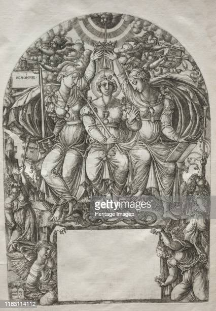 The Royal Majesty, before 1561. This print is part of a bound volume of works illustrating the a narrative of the Apocalypse, taken from the...