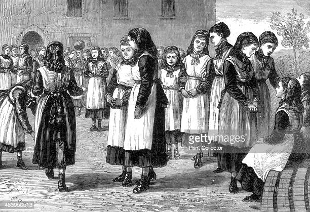 The Royal Masonic School for girls St John's Hill Battersea Rise London 1875 The school was established in 1788 to educate the daughters of...