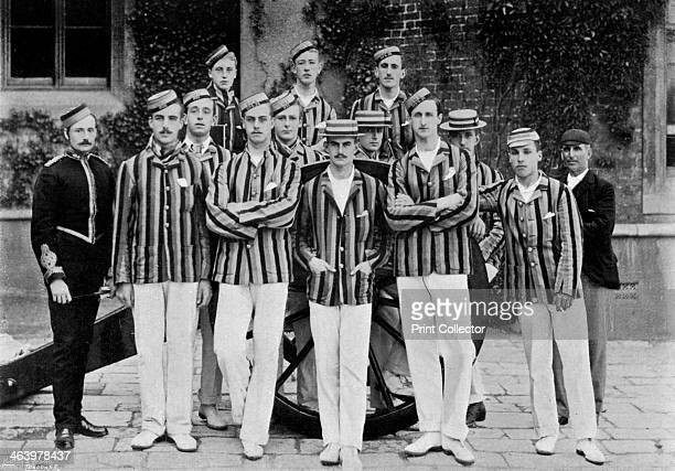 The Royal Military Academy cricket team 1895 The team was captained by A Handley A print from The Navy and Army Illustrated 26th June 1896