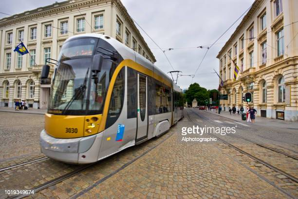 the royal museum of belgium and brussels public transport - regency style stock photos and pictures