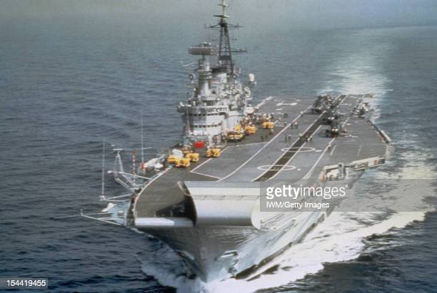 The Royal Navy 1976 2000 The aircraft carrier HMS HERMES underway in the 1980s