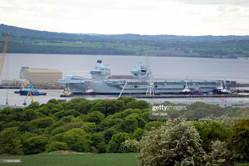 GBR: HMS Queen Elizabeth Leaves Rosyth Dockyard
