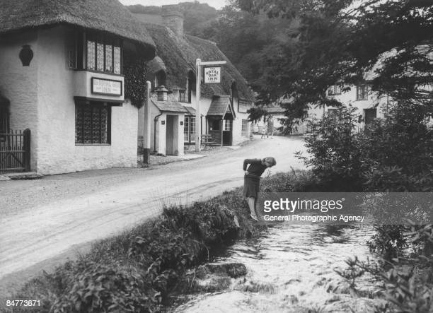 The Royal Oak Inn in Winsford Exmoor Somerset circa 1929