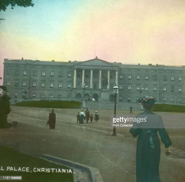 The Royal Palace Christiania Norway late 19thearly 20th century The neoclassical building was completed in the late 1840s The city of Oslo was known...