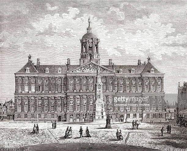 The Royal Palace, Dam Square, Amsterdam, The Netherlands In The 19Th Century. From Pictures From Holland By Richard Lovett, Published 1887.