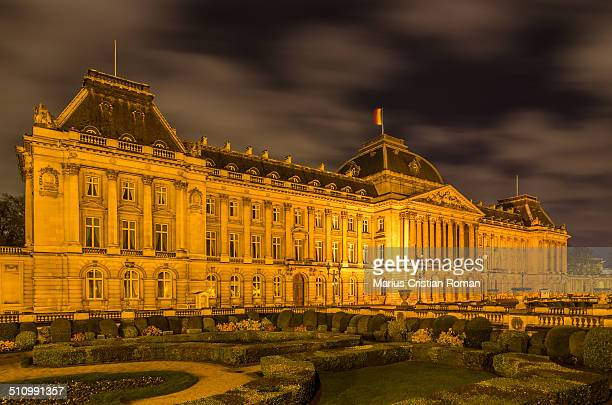 The Royal Palace in center of Brussels, view from Place des Palais, Belgium.