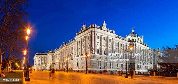 the royal palace in madrid - madrid royal palace stock pictures, royalty-free photos & images