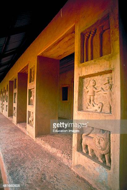 The Royal Palace Museum of the Fon dynasty kings of the Dahomey Empire The Museum is a UNESCO World Heritage Site Abomey Benin West Africa