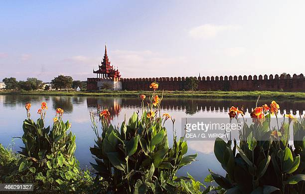 The Royal Palace of Mandalay Built by the Burmese king Mindon in 1861 Myanmar