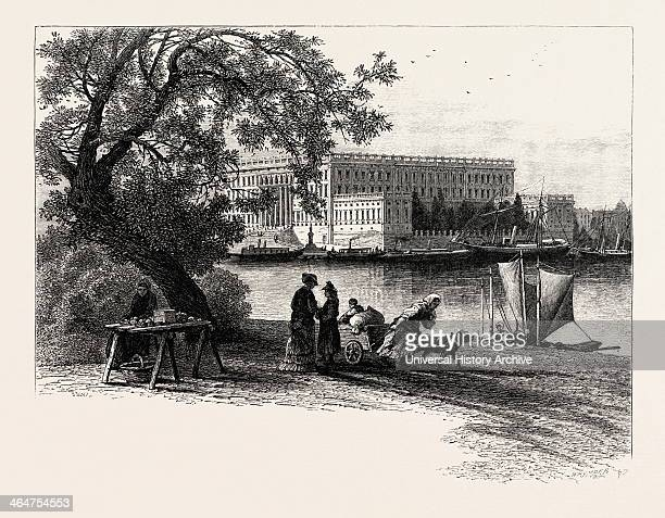 The Royal Palace Stockholm Sweden 19th Century Engraving