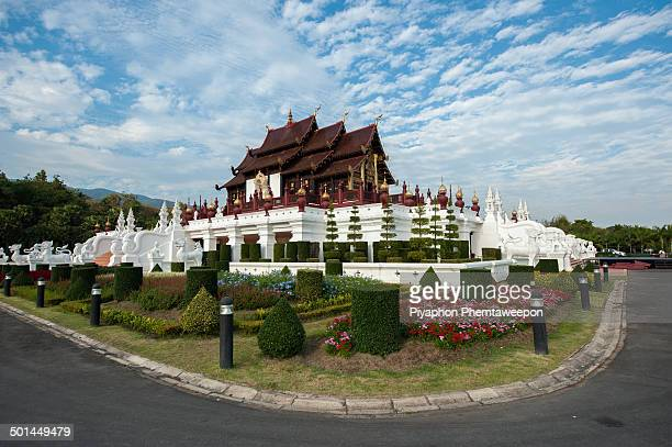The Royal Pavilion, or Ho Kham Luang in Thai, was the most impressive architecture of the Royal Flora Ratchaphruek 2006. Built in the style of a...