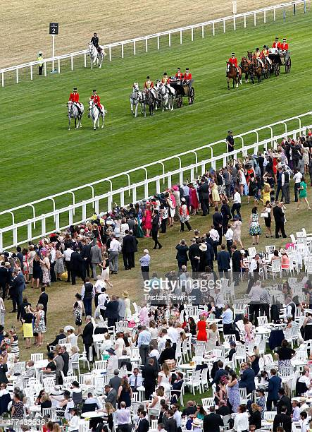 The Royal Procession during Royal Ascot 2015 at Ascot racecourse on June 17 2015 in Ascot England