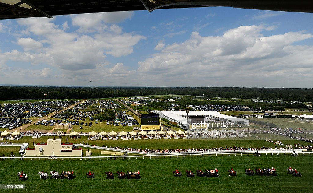 The Royal Procession makes its way along the race track during day four of Royal Ascot 2014 at Ascot Racecourse on June 20, 2014 in Ascot, England.