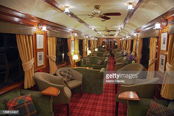The Royal Scotsman Train. Interior view of  lounge car.