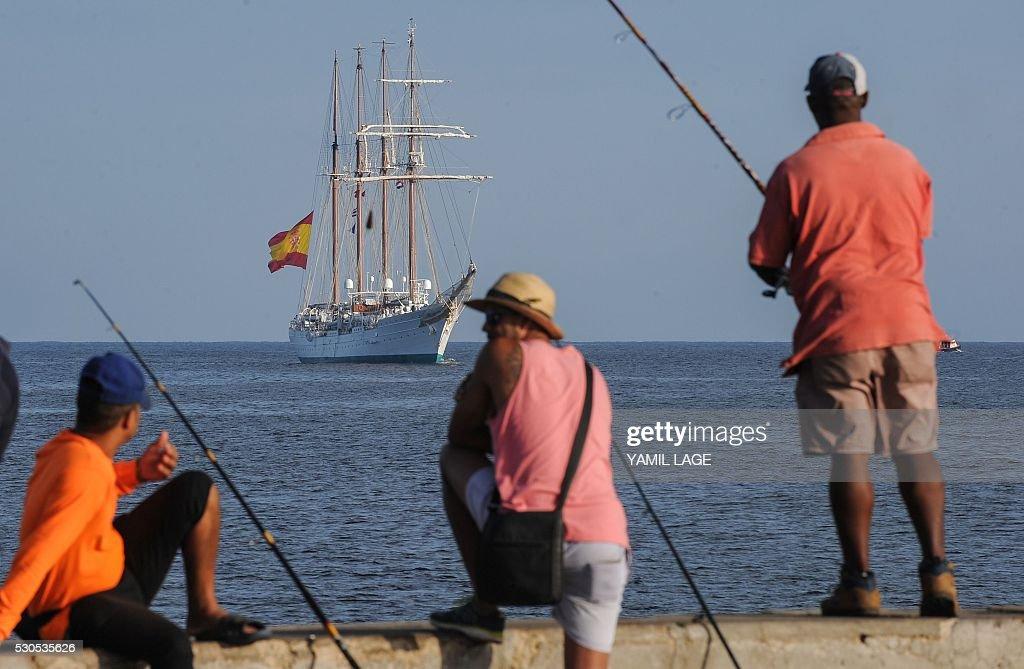 CUBA-SPAIN-NAVY-JUAN SEBASTIAN EL CANO : News Photo