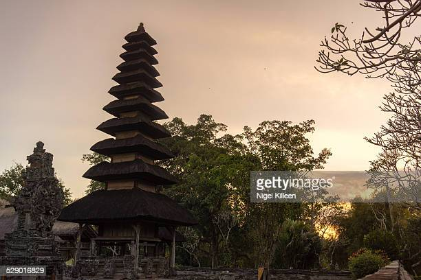 the royal temple of mengwi - ziggurat stock photos and pictures